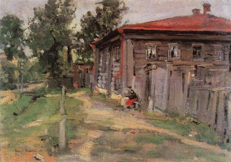 a street in pereslavl 1905 the russian museum st petersburg russia
